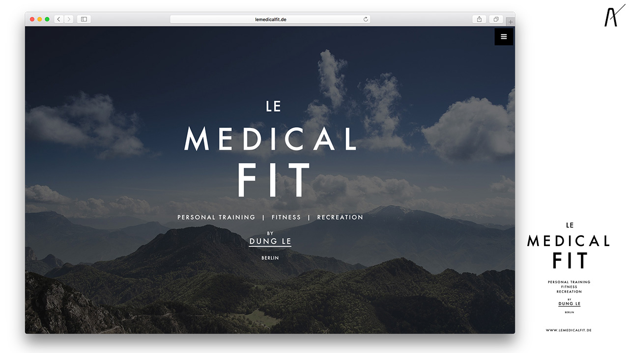 Corporate Design für Le Medical Fit, Sport, Fitness, Personal Trainer aus Berlin