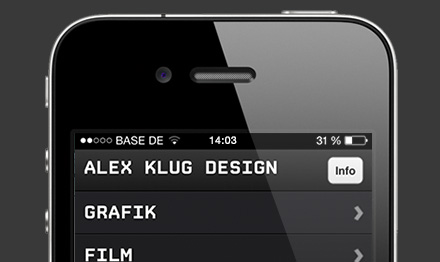Bureau Alex Klug - Mobile Website